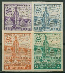 SBZ West-Sassonia 1946 Fiera Lipsia con WZ x 162/65 B x posta freschi ungezähnt