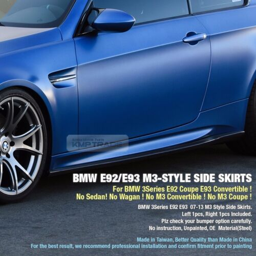 M3 ST Side Skirts Body Parts For BMW 2007-13 3 Series E92 Coupe E93 Convertible