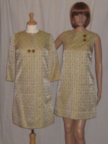 Vintage 1960s Mod Mini Dress & Jacket Novelty Prin