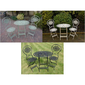 3 Piece Metal Outdoor Oval Table And Chairs