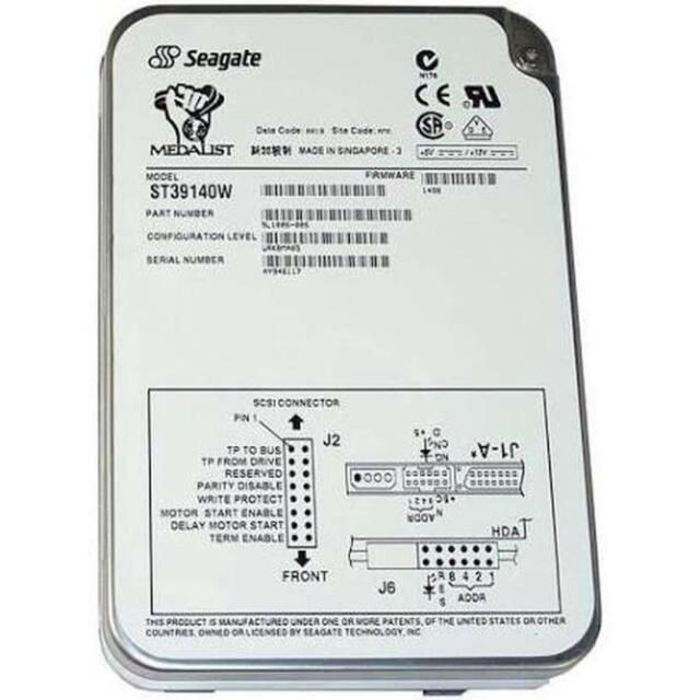 SEAGATE ST423451W 23GB 5.25 FULL HEIGHT 68 PIN SCSI HARD DRIVE P//N 9E3003-022