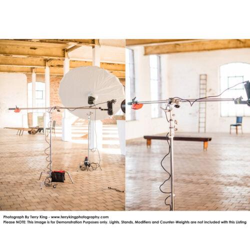 Fuerte resistente de acero inoxidable 120-220cm Studio auge de brazo telescópico