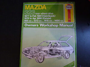 haynes car manual brand new 370 mazda 323 rwd 1977 1986 ebay rh ebay co uk Mazda Familia Parts Mazda Familia 2000