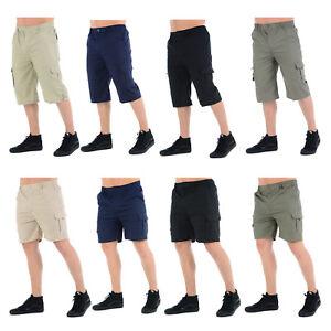 Pantalones-cortos-estilo-cargo-de-combate-para-Hombre-Elastico-chicos-Casual-de-Verano-Playa