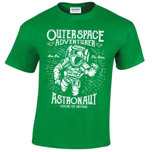 Astronaut T-Shirt S-5XL Mens Retro fallout Motivational Adventurer Outerspace