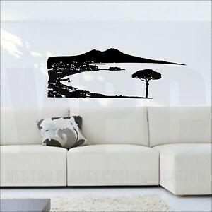 wall sticker vesuvio golfo di napoli adesivo muri vetro soggiorno ...