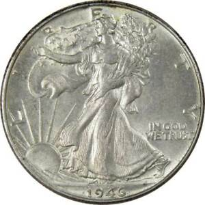 1946-50c-Liberty-Walking-Silver-Half-Dollar-US-Coin-Choice-About-Uncirculated