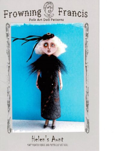 "Pattern /""Helen/'s Aunt/"" By Susan Barmore Paper *NEW* Cloth Folk Art Doll"