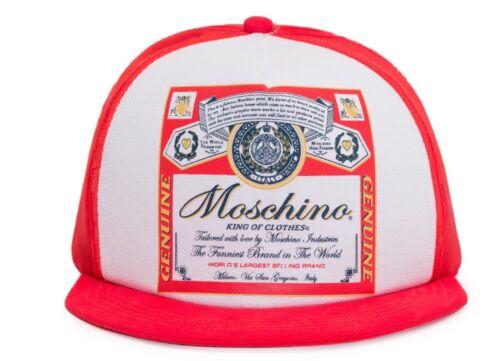$140 SS20 MOSCHINO Couture Jeremy Scott x BUDWEISER Peaked Logo Visor Hat Cap