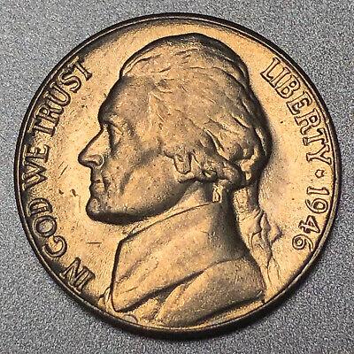 1946-D Jefferson Nickel Gem BU Uncirculated