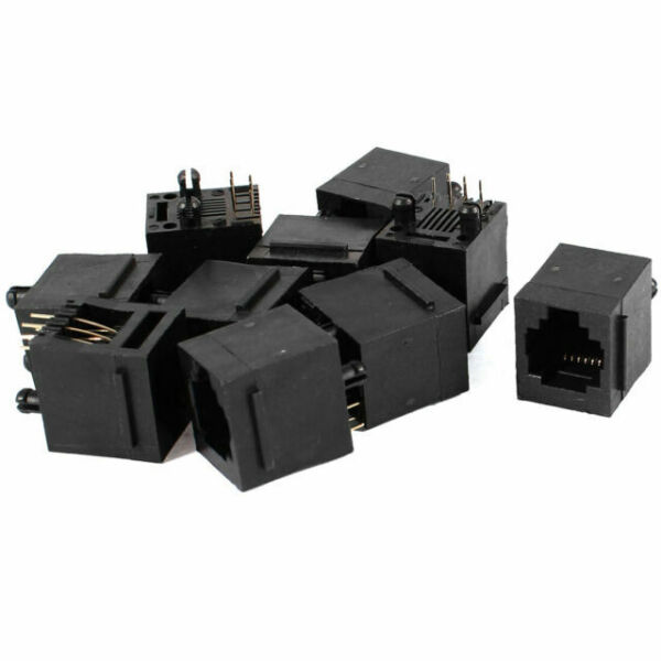 Black Plastic Rj11 6p6c Modular PCB Jack Telephone Phone Connectors 10 Pcs for sale online  eBay