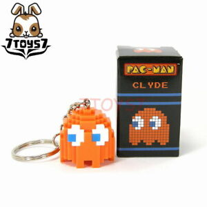 Free Shipping PAC-MAN Ghost Orange Clyde KEY CHAIN CHARM