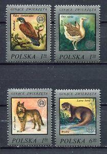 35925) Poland 1977 MNH Endangered Animals 4v