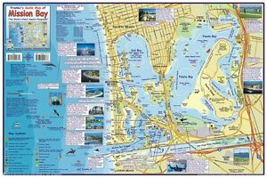 Mission Bay San Diego California Map & Guide Laminated Poster