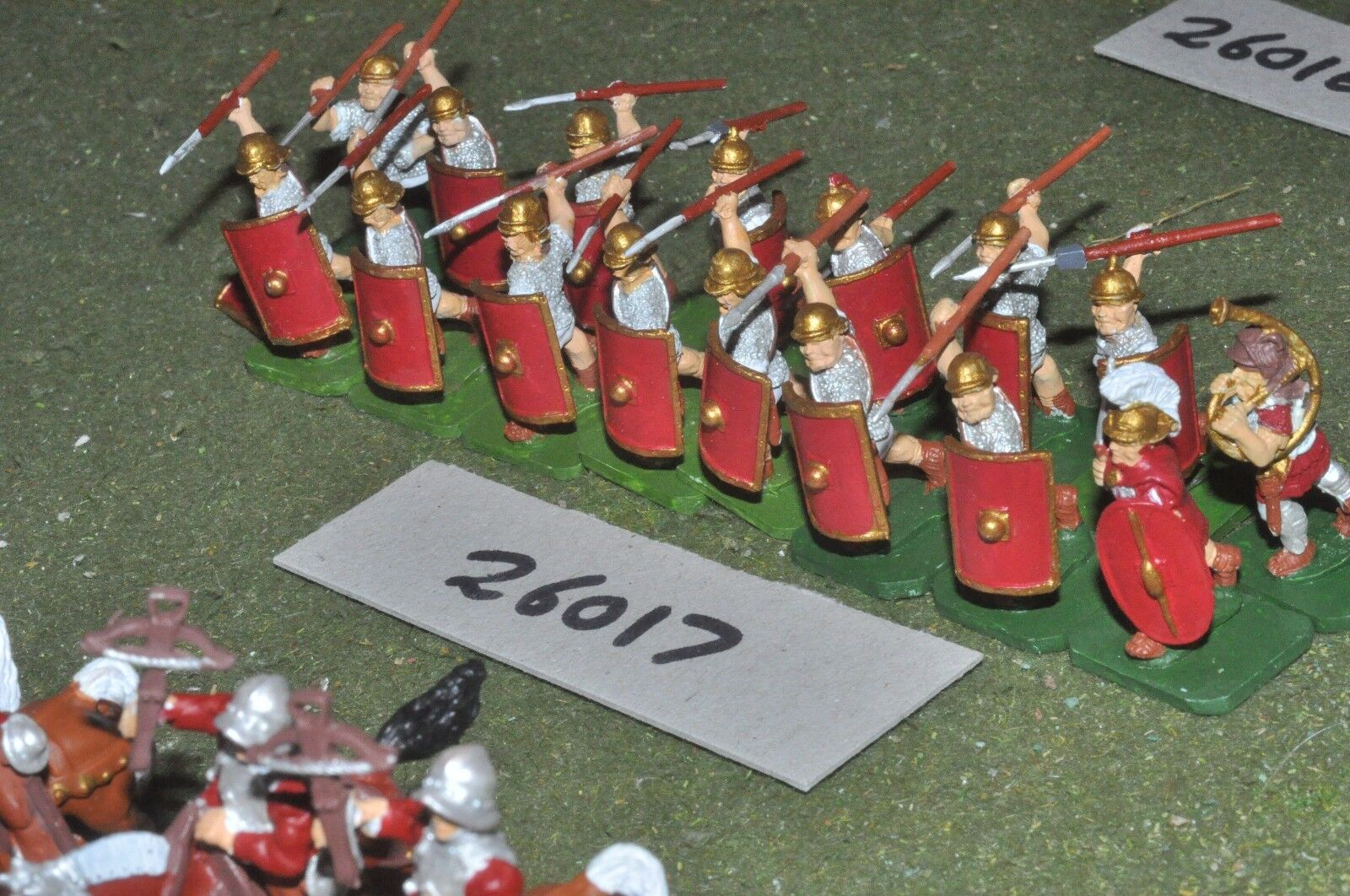 25mm roman era   roman - legionaries 16 figures - inf (26017)