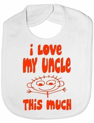 I Love My Uncle This Much Baby Feeding Bib Gift