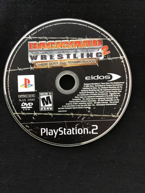 Backyard Wrestling 2 There Goes the Neighborhood PS2 DISC ...