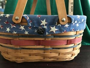 Longaberger-American-Celebration-Oval-Market-Basket-Liner-amp-Protector-NO-RESERVE