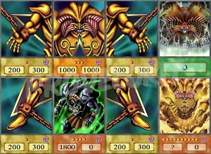 Details About Exodia Anime Custom Card Set 8 Cards Common Handmade Yugioh Orica Cosplay