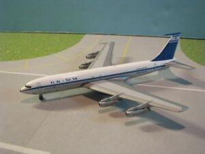 AEROCLASSICS-EL-AL-707-458-1-400-SCALE-DIECAST-METAL-MODEL