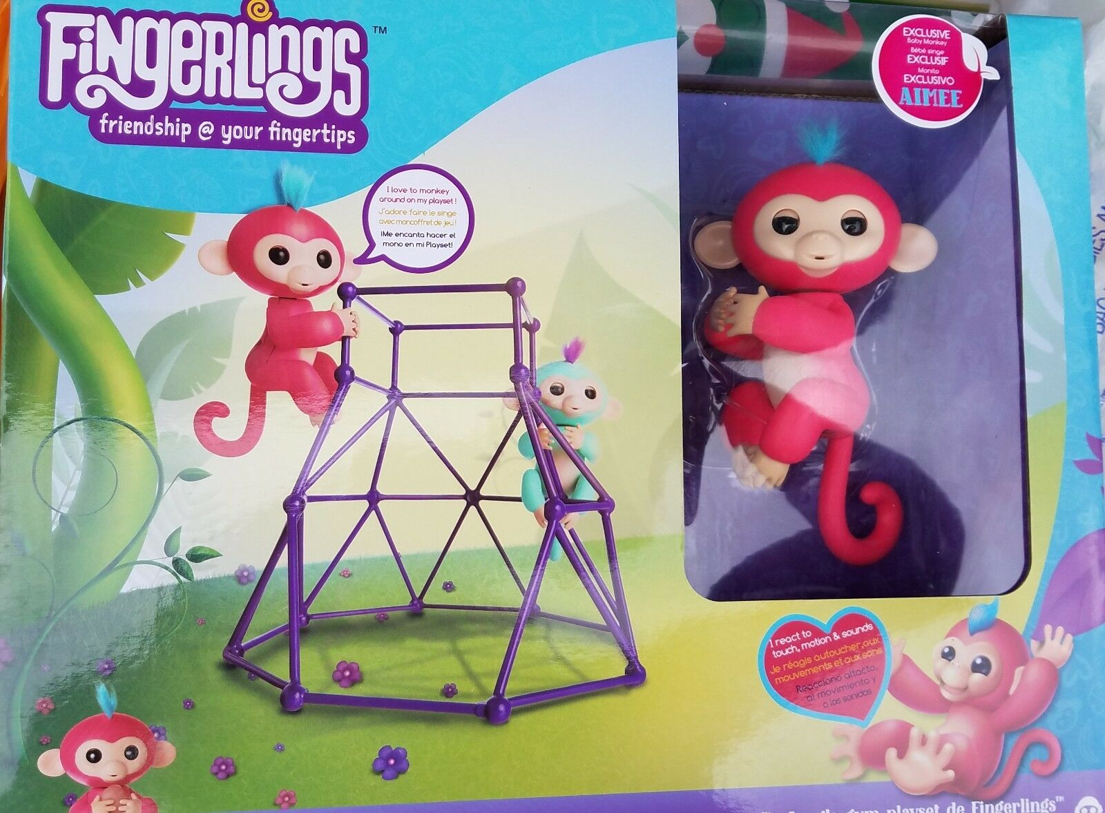 Authentic Wowwee Fingerling Exclusive Aimee with jungle gym set