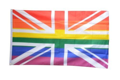 Fahne Großbritannien Regenbogen Flagge britische Hissflagge 90x150cm