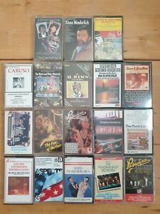 audio music cassette tapes bundle joblot x 18 as pictured mct06