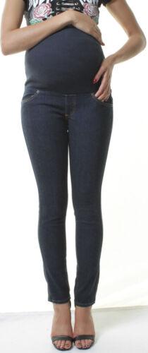 Maternity Denim Skinny High Waist Jeans Pregnancy Over Bump Pants 8 10 12 14