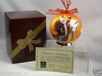 Thomas Pacconi 6 Hand Painted Blown Glass Ornament W Stand In Gift Box Bronze