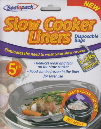 Sealapack Autocuiseur Liners Lot de 5 Sacs Jetable facile & Clean Cooking