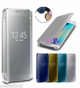 reputable site 47b86 be0d4 Details about Samsung Galaxy S7/S7 Edge Mirror Flip Case Cover Wallet