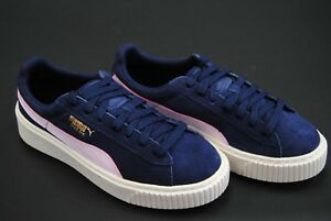 size 40 48f53 60f28 Details about [363906-10] NEW KID'S S PUMA SUEDE PLATFORM SNK JR PEACOAT  PINK T GOLD PK1