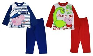 newest collection 60% discount enjoy lowest price Details about Boys Peppa Pig George Pyjamas 100% Cotton Full Length Pjs  Character Nightwear