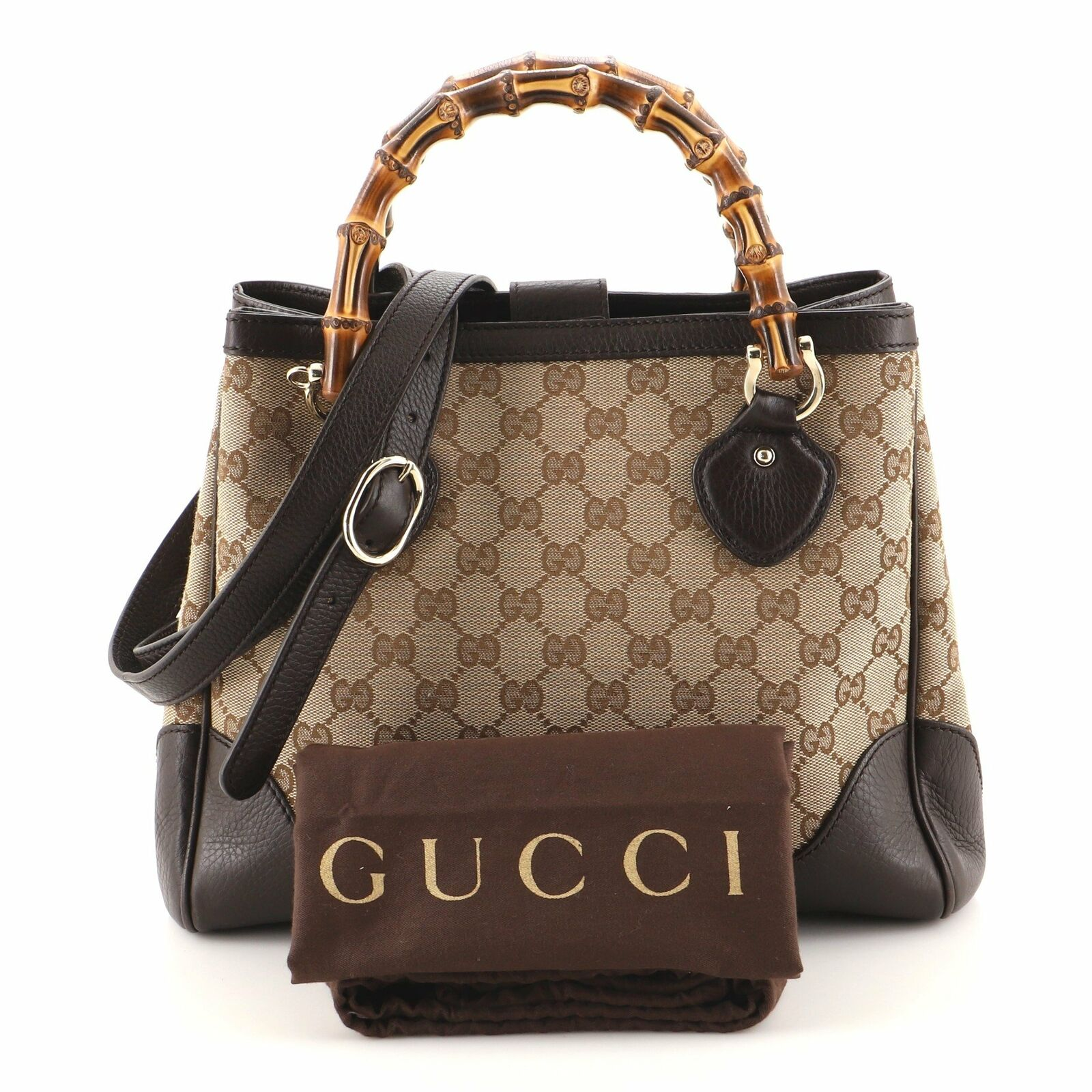 Gucci Diana Bamboo Top Handle Tote GG Canvas Small - image 2