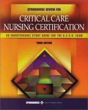 Springhouse Reveiw For Critical Care Nursing Certification, Springhouse Corporat