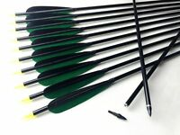 32 Inches Aluminum Arrows Hunting Turkey Feather Arrows For Recurve Compound Bow