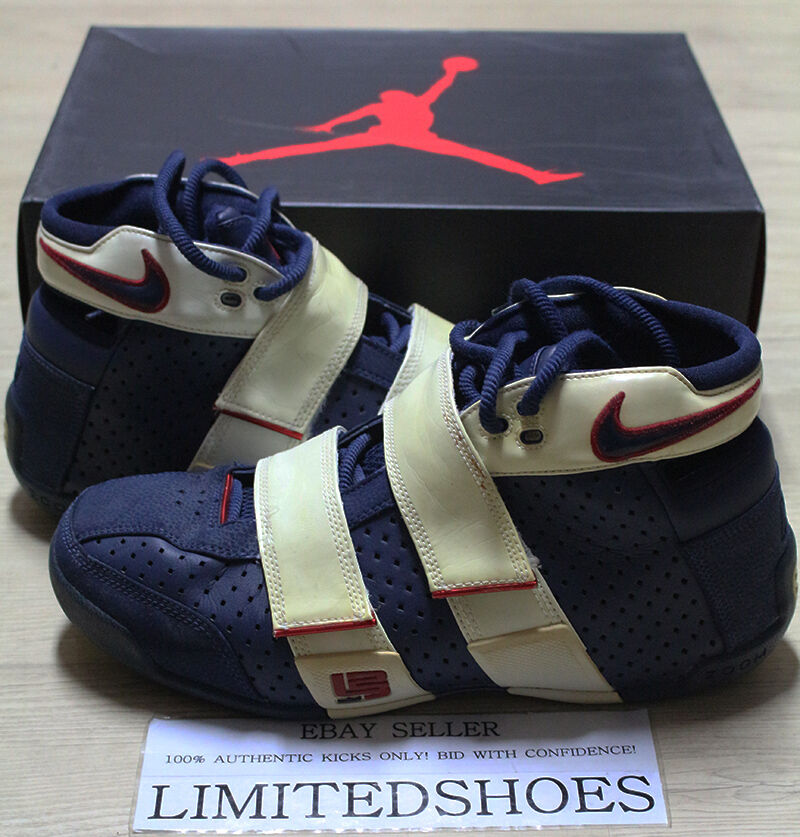 NIKE ZOOM 20-5-5 LEBRON JAMES OLYMPIC OLYMPIC OLYMPIC NAVY 311145-441 US 11.5 black white pe red f0fd93