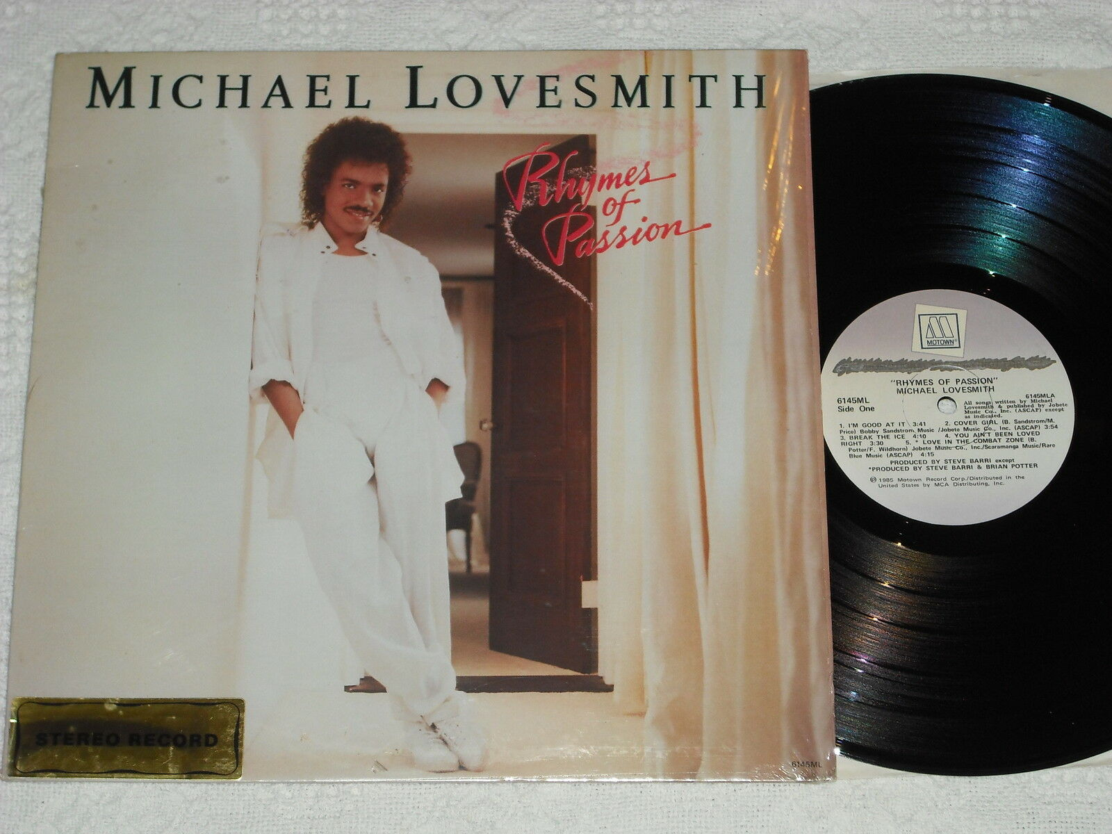 MICHAEL LOVESMITH-Rhymes Of Passion (1985) DJ / Promo MOTOWN LP * In Shrink *