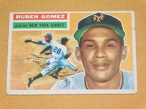 VINTAGE-OLD-1950S-BASEBALL-1956-TOPPS-CARD-RUBEN-GOMEZ-NEW-YORK-GIANTS