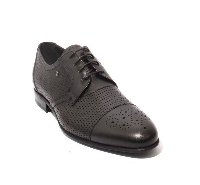 ROBERTO SERPENTINI 44934 44/US Negro Cuero Con Cordones Clásico Zapatos 44/US 44934 11 9a80a2