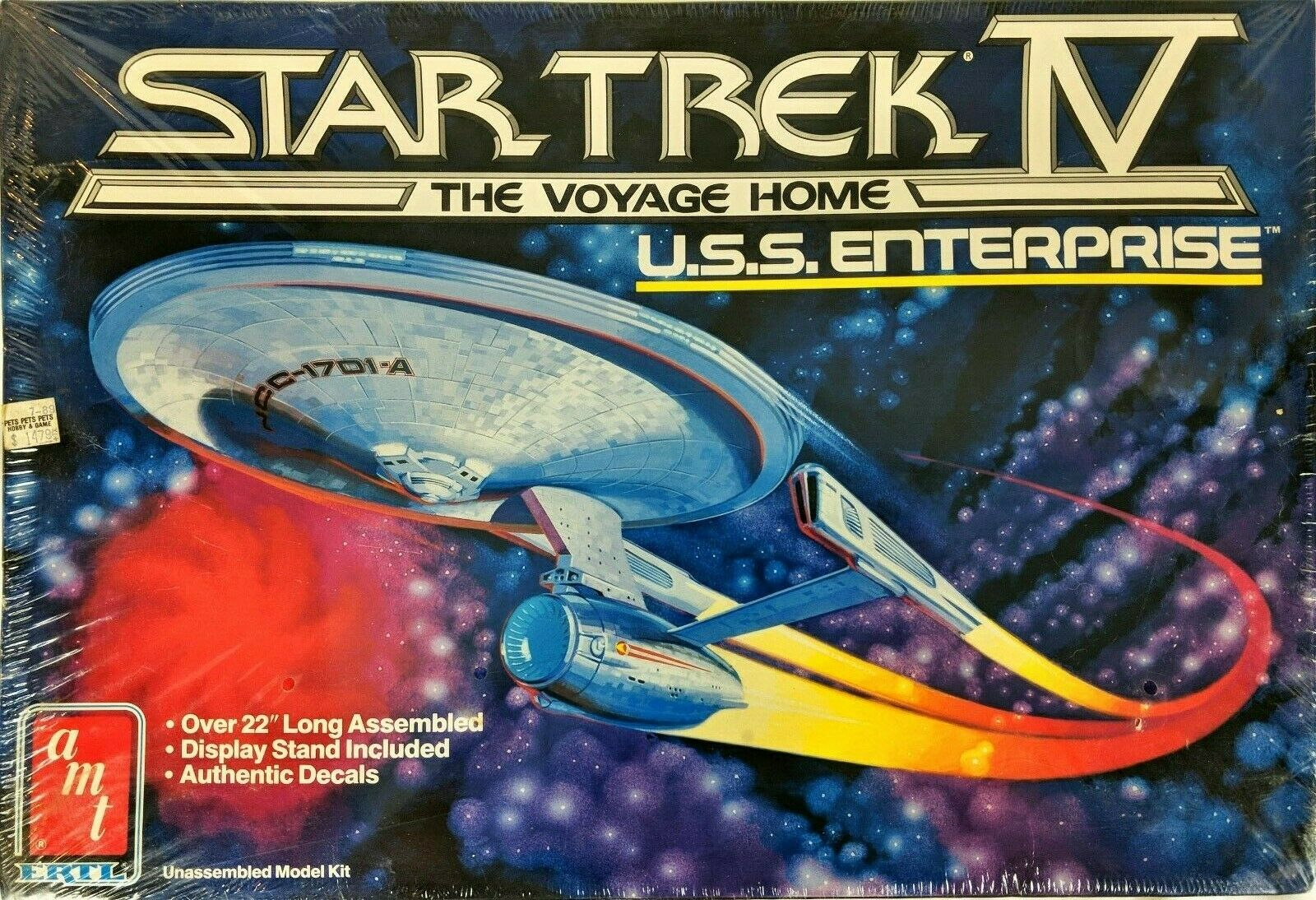 Model Enterprise USS Home 4 Trek Star Vintage Kit Voyage NOS
