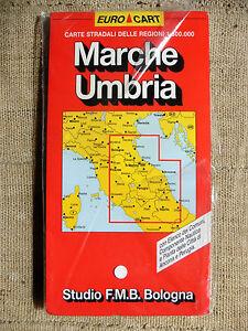 Cartina Stradale Marche Umbria.Marche Umbria Carta Stradale E Turistica Studio F M B Bologna 1 300 000 Ebay