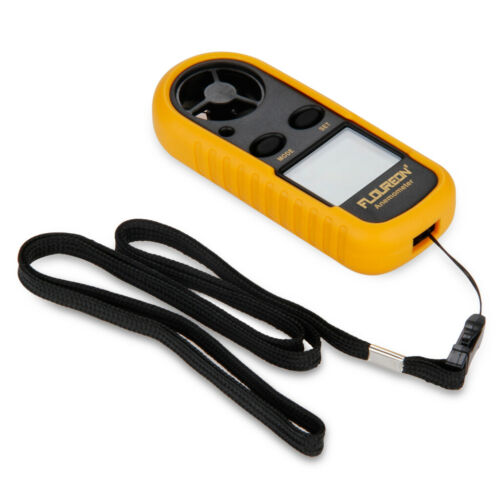 Floureon Digital LCD Luftstrom Windmesser Portable Wind Speed Meter Anemometer
