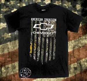 Chevy T Shirts >> Details About New Chevrolet American Tradition Realtree Camo Flag Chevy T Shirt