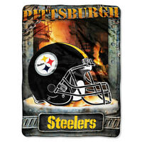 Pittsburgh Steelers 60x80 Super Royal Plush Raschel Throw Blanket 104ct Lot