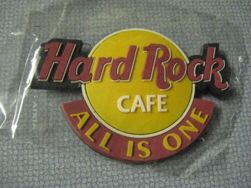 NEW Hard Rock Cafe 3 Logo Rubber Refrigerator Fridge Magnet All Is One