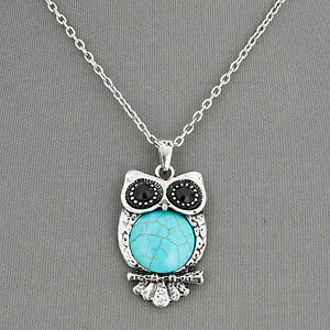 Unique Antique Owl Pendant Necklace