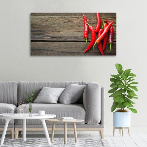 Wandbild aus Plexiglas® Druck auf Acryl 100x50 Essen /& Getränke Chilischoten