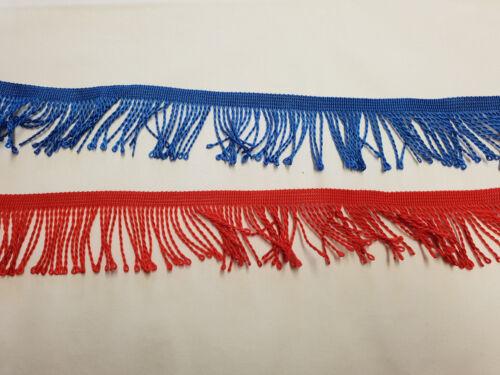 Bordato 2 metri larga 5cm in rosso o blu