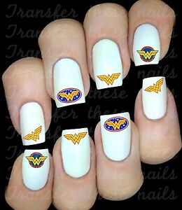 WONDER-WOMAN-Stickers-ongles-autocollant-manucure-nail-art-water-deco
